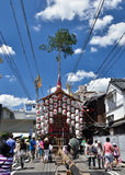 Gion festival eve, decorated float and summer sky, Kyoto Japan. Royalty Free Stock Photos