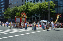 Gion festival parade in summer, Kyoto Japan. Stock Photo