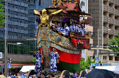 Gion festival parade in summer, Kyoto Japan. Stock Photography