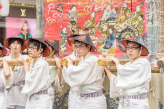 Gion Matsuri in Kyoto, Japan – July 17, 2016 Royalty Free Stock Photos