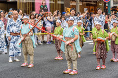 "Gion Matsuri in Kyoto, Japan †""17 Juli, 2016 Royalty-vrije Stock Fotografie"