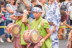 Gion Matsuri in Kyoto, Japan - July 17, 2016 Royalty Free Stock Photos