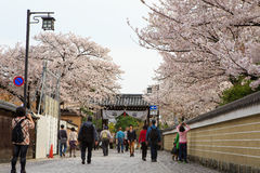 Gion okręg w Kyoto, Japonia Obrazy Royalty Free