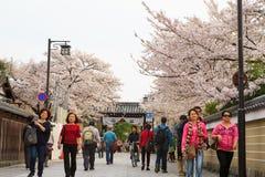 Gion område i Kyoto, Japan Arkivfoto
