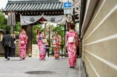 Gion område i Kyoto Japan Royaltyfria Bilder