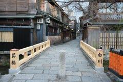 Gion Shirakawa, tradycyjny rozrywka okręg w Kyoto, wcześnie rano zdjęcie royalty free