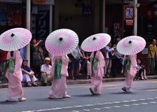 Gionmatsuri parede in de zomer, Kyoto Japan Royalty-vrije Stock Afbeeldingen