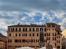 Giordano Bruno at Campo Dei Fiori in Rome, Italy Stock Image