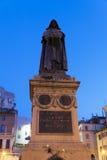 Giordano Bruno at Campo Dei Fiori in Rome, Italy. Giordano Bruno statue at the Campo Dei Fiori square in Rome, Italy Royalty Free Stock Photo