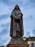 Giordano Bruno på Campo Dei Fiori i Rome, Italien Fotografering för Bildbyråer