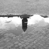 Giordano Bruno in a Puddle Royalty Free Stock Image