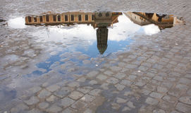 Giordano Bruno in a Puddle Stock Photos