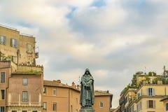 Giordano Bruno Sculpture, Rome, Italië stock afbeelding