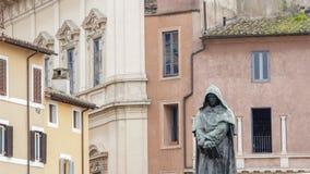Giordano Bruno statue in Campo de Fiori, Rome, Italy Stock Images