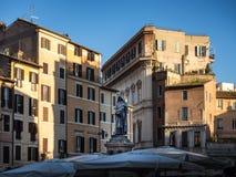 Giordano Bruno statue at Campo Dei Fiori square in Rome, Italy Stock Photography