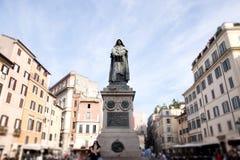 Giordano Bruno statue at the Campo Dei Fiori square in Rome. Italy Royalty Free Stock Images