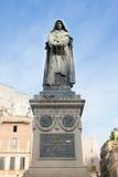 Giordano Bruno statue at the Campo Dei Fiori square in Rome. Italy Stock Photography