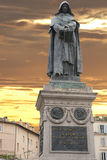 Giordano bruno statue Royalty Free Stock Photos