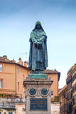 Giordano Bruno Statue in Rome. Giordano Bruno was an Italian Dominican friar, philosopher, mathematician, poet, and astrologer.He is celebrated for his Royalty Free Stock Photography