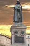 Giordano bruno staty royaltyfria foton