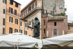 Giordano Brvno statue in Campo de' Fiori, Rome Royalty Free Stock Photography
