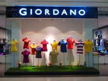 Giordano que arropa la tienda al por menor Fotos de archivo libres de regalías