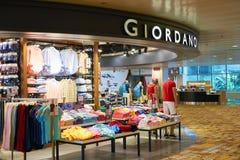 Giordano sklep Obrazy Stock
