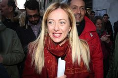 Giorgia Meloni, diplomatisch lizenzfreie stockfotografie