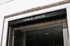 Giorgio Armani存储 图库摄影