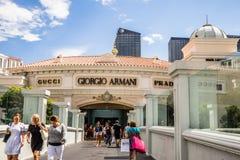 Giorgio Armani, Gucci and Prada Stock Image