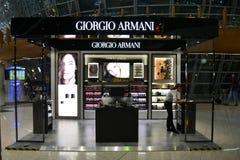 Giorgio Armani. Kuala Lumpur, Malaysia - April 20, 2015: Giorgio Armani stand at Kuala Lumpur International Airport. Giorgio Armani is one of the most famous Royalty Free Stock Photography