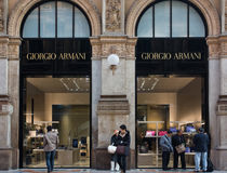Giorgio Armani shop Stock Images