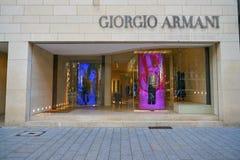Giorgio Armani store. DUSSELDORF, GERMANY - CIRCA SEPTEMBER, 2018: Giorgio Armani store in Dusseldorf royalty free stock photography