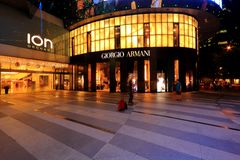 Giorgio Armani Store at Orchard Ion Royalty Free Stock Photo
