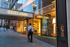 Giorgio Armani store Stock Photography