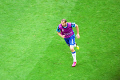 Giorgio chiellini. The italian player giorgio chiellini during the warm up before the uefa euro 2016 football match italy vs belgium played at lyon in france. 13 royalty free stock image