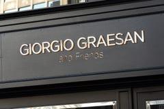 Giorgio Graesan och vänlager royaltyfri fotografi
