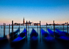 Giorgio Island Venedig, Italien på solnedgången Arkivfoto