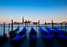 Giorgio Island, Venezia, Italia al tramonto fotografia stock