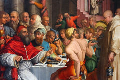 Giorgio vasari, dinner of st gregory Royalty Free Stock Images