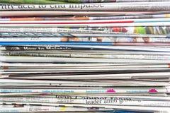 Giornale fotografie stock libere da diritti