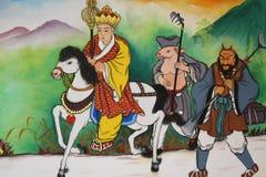 Giornale alla pittura ad ovest sulla chiesa cinese Immagini Stock Libere da Diritti