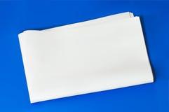 Giornale in bianco Fotografia Stock