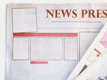 Giornale in bianco Immagine Stock