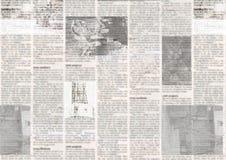 Giornale con il fondo di carta illeggibile d'annata di struttura di vecchio lerciume immagini stock libere da diritti