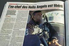 Giornale del de Montreal del giornale Fotografia Stock Libera da Diritti