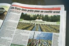 Giornale del de Montreal del giornale Immagini Stock Libere da Diritti