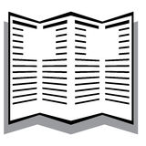 Giornale del giornale in bianco e nero Fotografia Stock Libera da Diritti