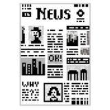 Giornale di arte del pixel Fotografie Stock Libere da Diritti