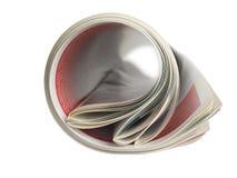 Giornale rotolato Fotografia Stock